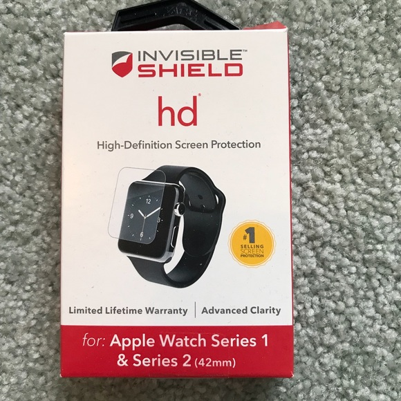 wholesale dealer 7980f 91eca ZAGG Invisible Shield Apple Watch Screen Protector